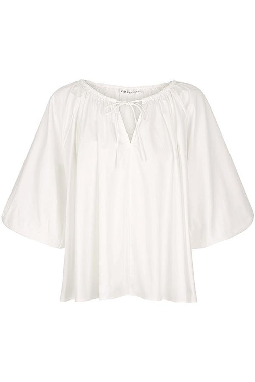 SHONA JOY AUSTIN SMOCK TOP - WHITE