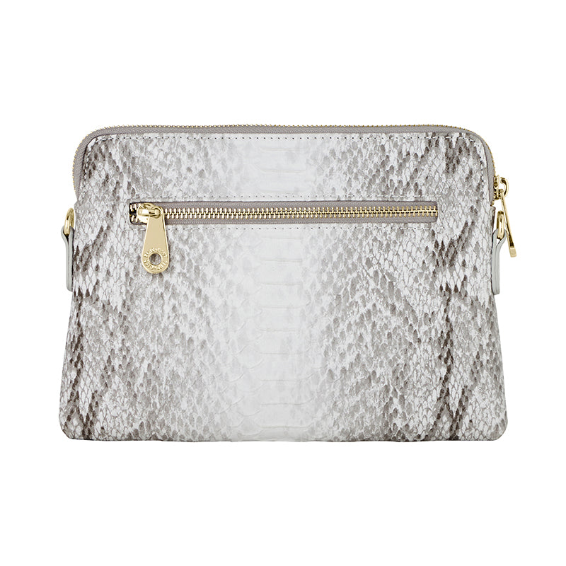 ELMS AND KING BOWERY WALLET - GREY PYTHON