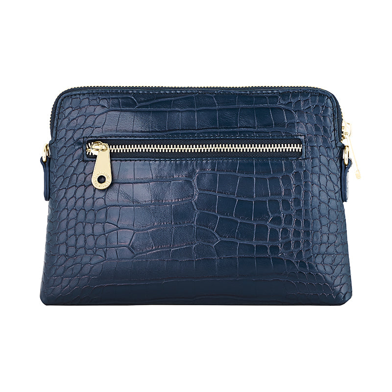 ELMS AND KING BOWERY WALLET - NAVY CROC