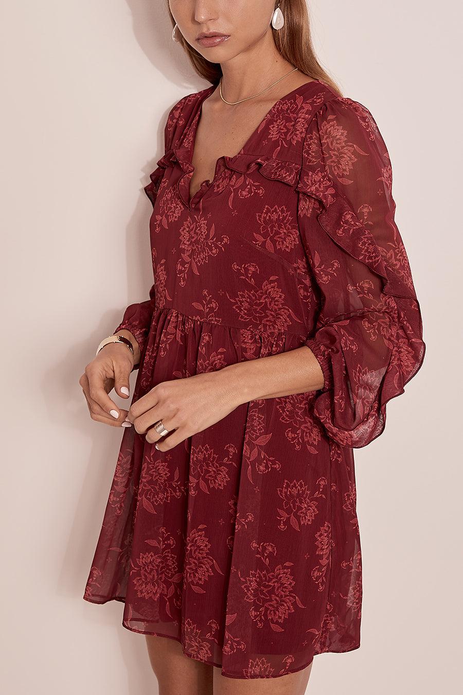STEELE SAHARA MINI DRESS - PINOT