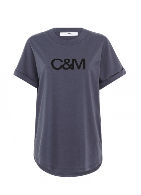 C & M NEW HUNTINGTON LOGO TEE - NAVY SLATE
