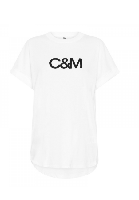 C&M NEW HUNTINGTON LOGO SLUB TEE - WHITE