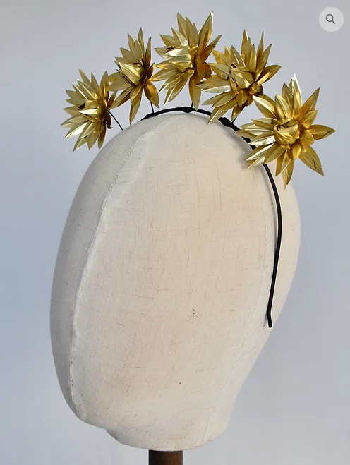 DERBY & POWER HEADPIECE - SYLVANITE GOLD