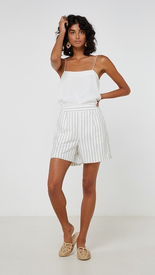 ELKA COLLECTIVE JANUARY SHORT - LINEN STRIPE