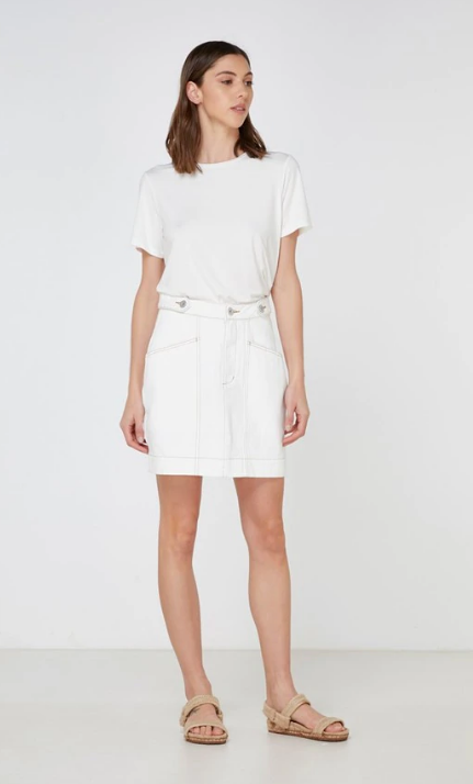 ELKA COLLECTIVE CARLOTTA SKIRT - WHITE