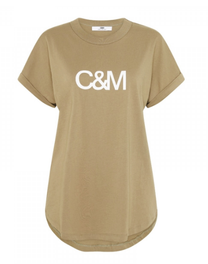 C&M New HUNTINGTON LOGO SLUB TEE - SAGE