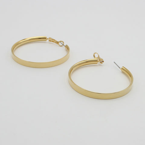 JOLIE AND DEEN CANE HOOPS - GOLD