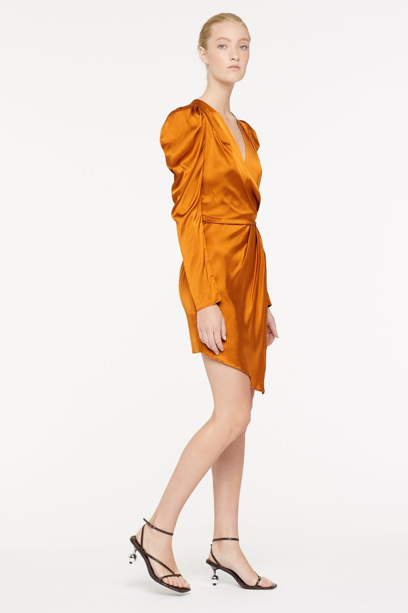 MANNING CARTELL STYLE CODE MINI DRESS - TERRACOTTA