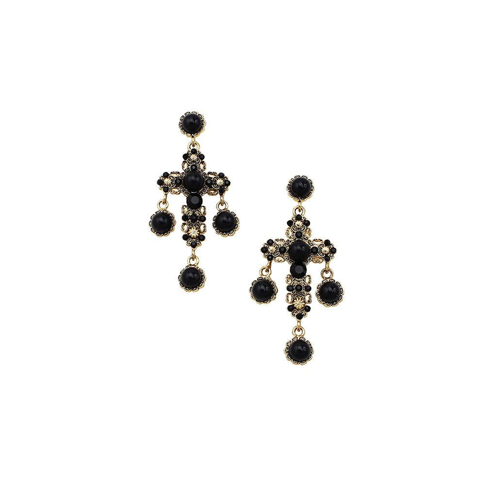 JOLIE AND DEEN PRUE CROSS EARRINGS