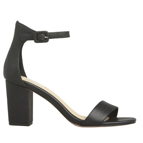 NUDE FOOTWEAR DAKOTA HEEL - BLACK LEATHER