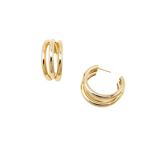 JOLIE & DEEN ALLY HOOP EARRINGS GOLD