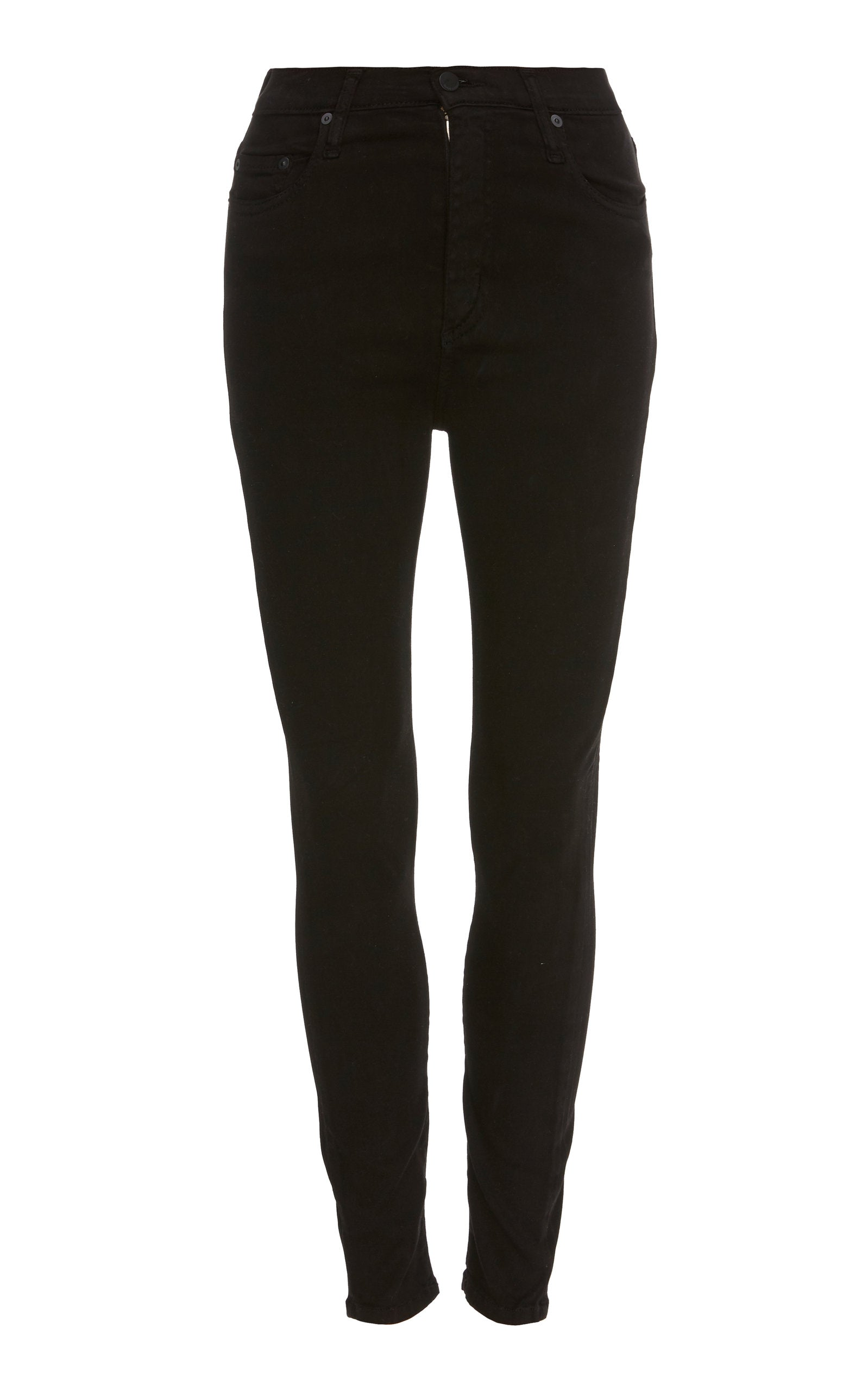 NOBODY CULT SKINNY ANKLE - BLACK SATEEN