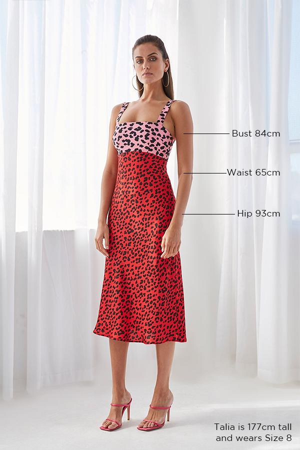 BY JOHNNY SPLICE LEOPARD BIAS MIDI DRESS