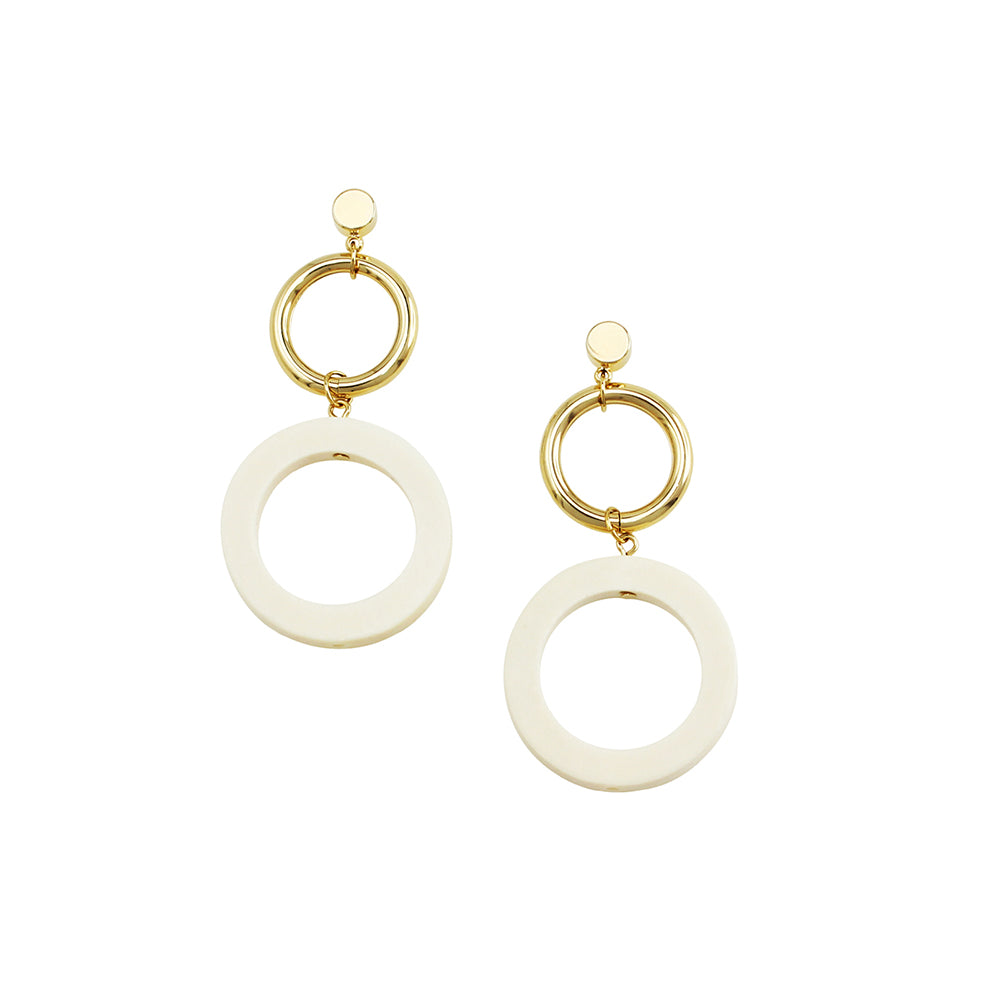JOLIE AND DEEN WOOD CIRCLE EARRINGS
