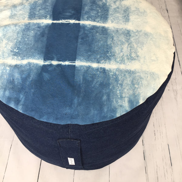 eco-friendly-sustainable-repurposed-handmade-home-decor-Indigo-Japanese-Lilies-Ottoman