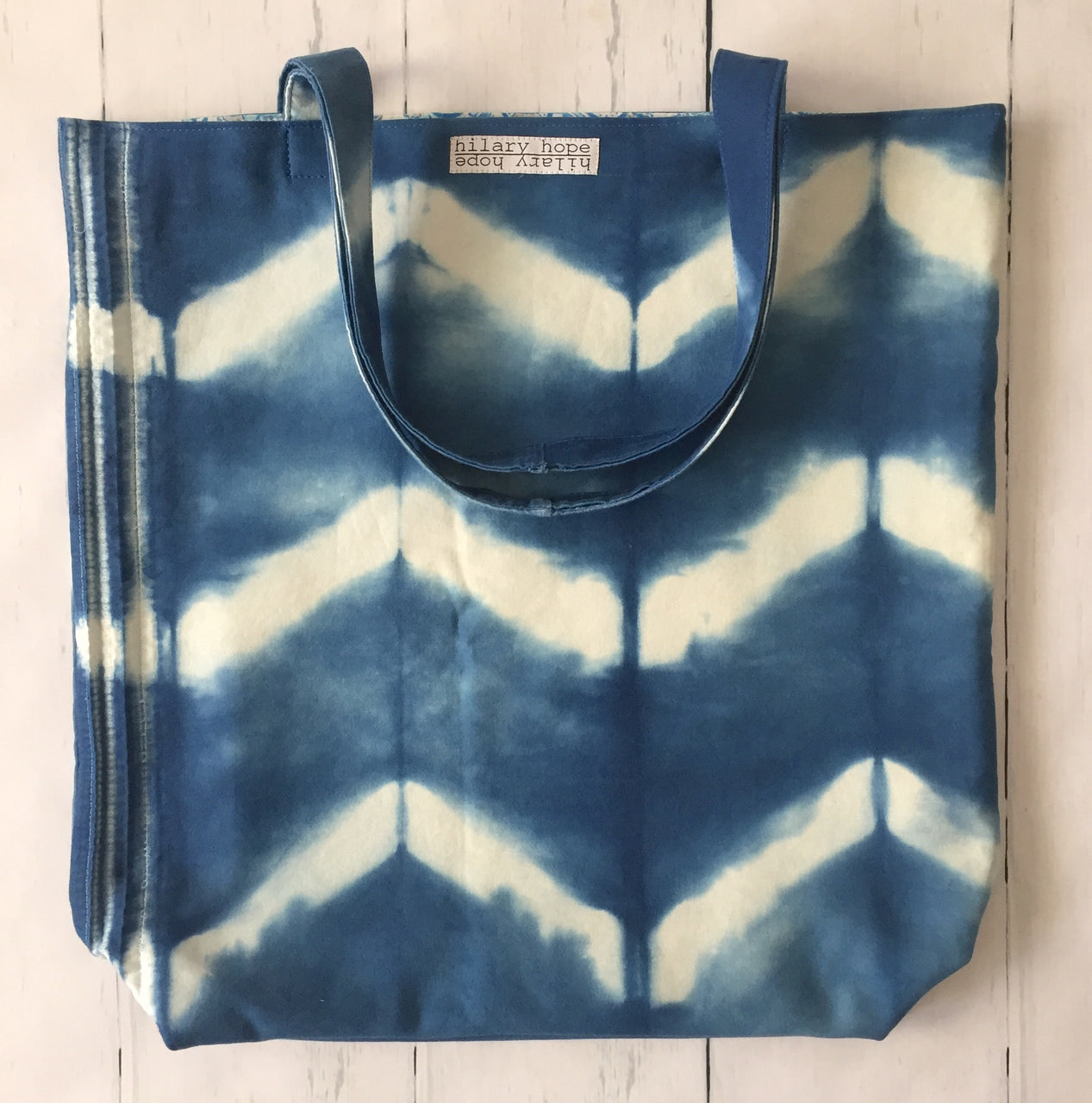 dark-indigo-chevron-stripe-stitch-resist-tote-bag-front