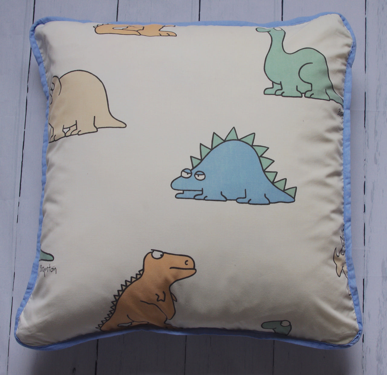 dino-gingham-floor-pillow-front