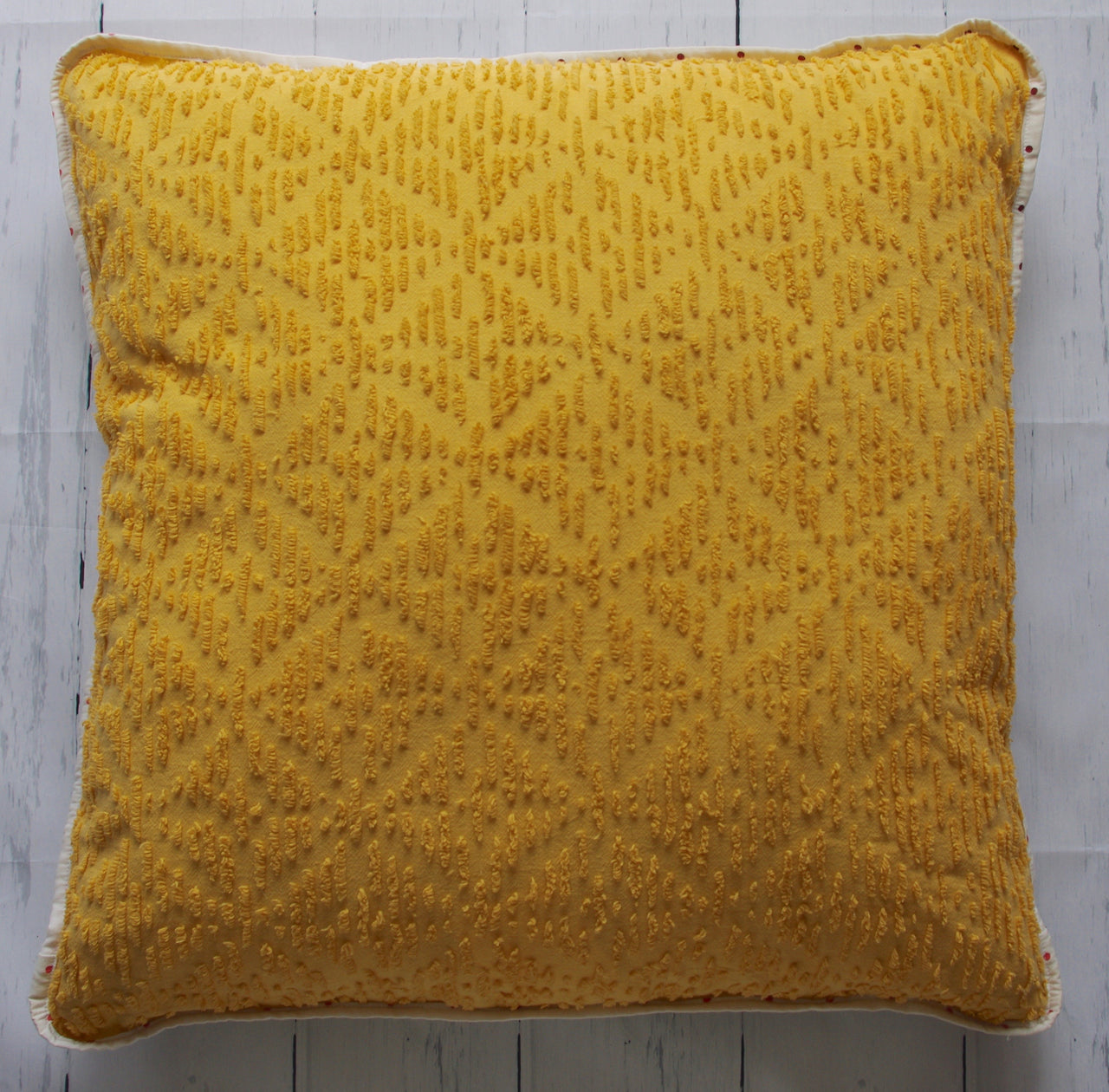 eco-friendly-sustainable-repurposed-handmade-home-decor-floor-pillow-gold-chenille-floral-floor-pillow-front