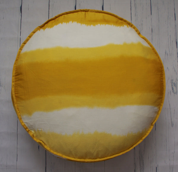 eco-friendly-sustainable-repurposed-handmade-home-decor-floor-pillow-golden-ombre-hilary-hope-round-floor-pouf-front