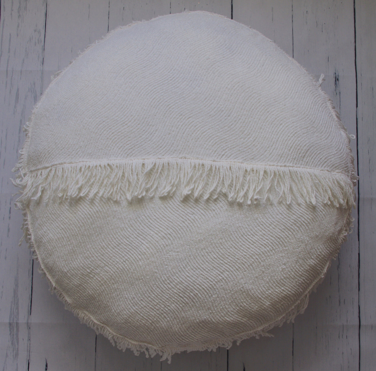eco-friendly-sustainable-handmade-home-decor-floor-pillow-minimal-boho-white-chenille-fringe-front