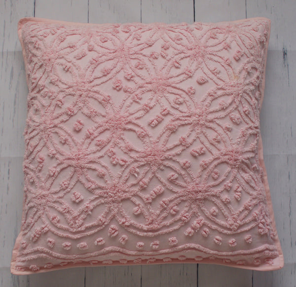 pink-chenille-square-floor-pillow-front