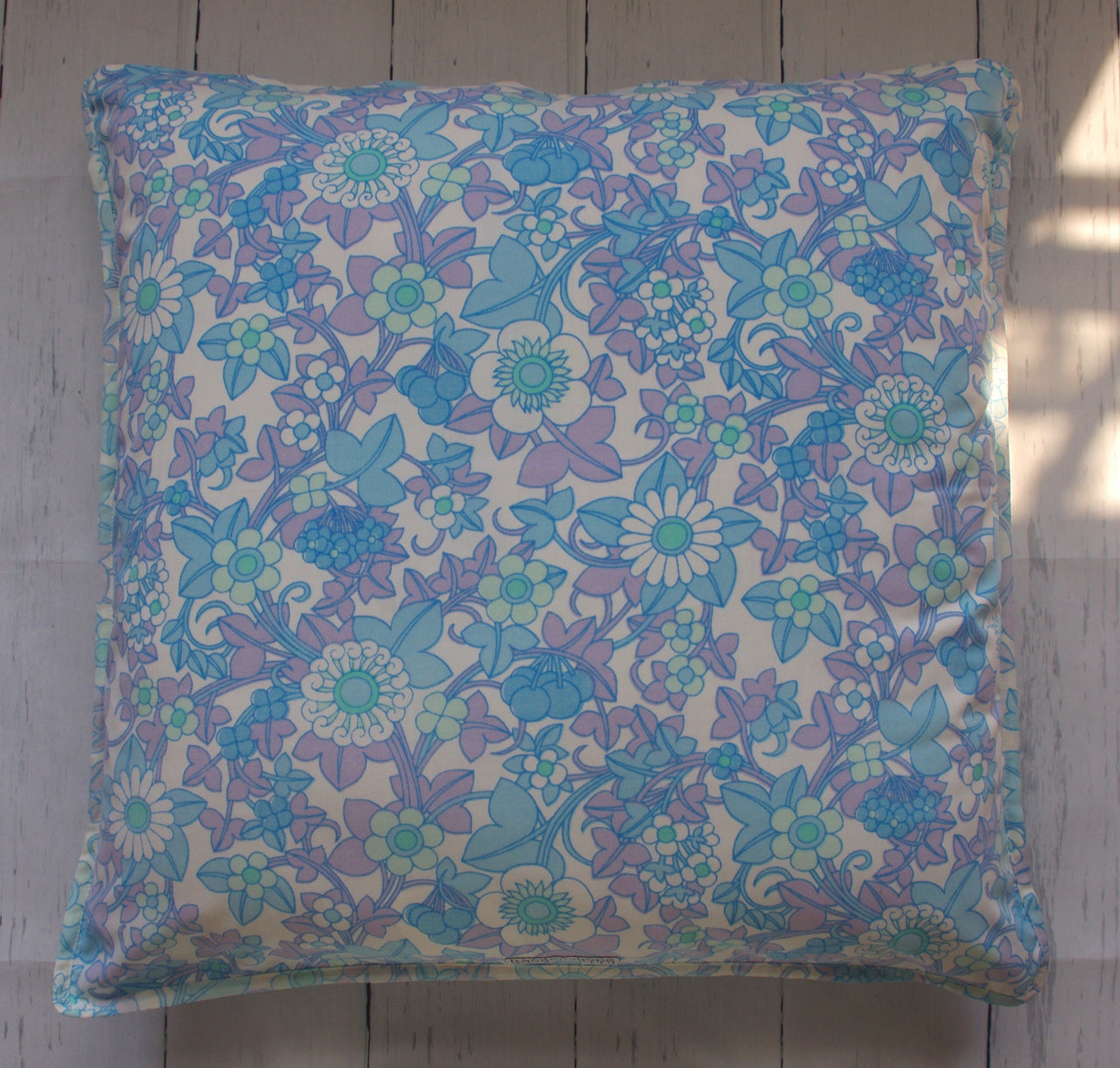 eco-friendly-sustainable-repurposed-handmade-floor-pillow-retro-floral-blues-front