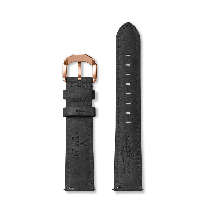 Black Horween Chromexcel Leather Strap