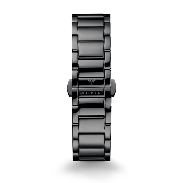 Gunmetal 316L Ladder Watch Bracelet