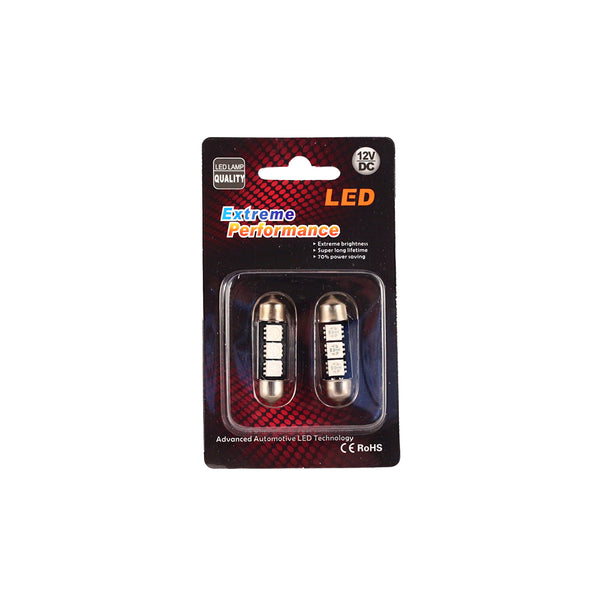 36mm Festoon Red (pair)