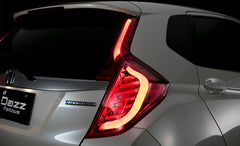 DazzFellows Honda Jazz LED Tail Lamp (Smoke/ Red Chrome)