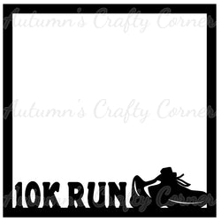 10K Run - Scrapbook Page Overlay Die Cut - Choose a Color