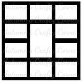 11 Frames - Scrapbook Page Overlay Die Cut - Choose a Color
