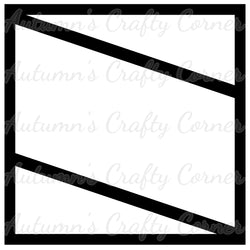 2 Slanted Lines - Scrapbook Page Overlay Die Cut - Choose a Color