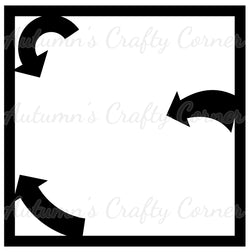 3 Arrows - Scrapbook Page Overlay - Choose a Color