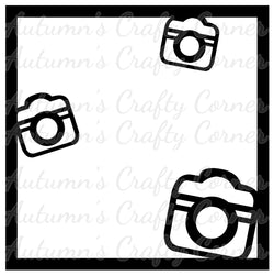 3 Cameras - Scrapbook Page Overlay Die Cut - Choose a Color