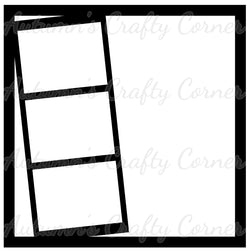 3 Slanted Frames - Scrapbook Page Overlay Die Cut - Choose a Color