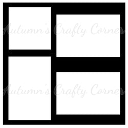 4 Frames - Scrapbook Page Overlay Die Cut - Choose a Color