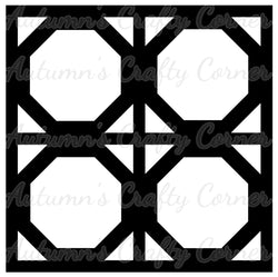 4 Octagon Frames - Scrapbook Page Overlay Die Cut - Choose a Color