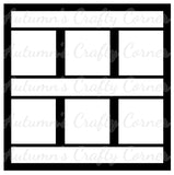 6 Frames - Scrapbook Page Overlay Die Cut - Choose a Color