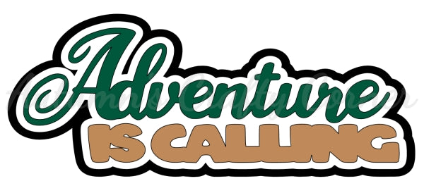 Adventure is Calling - Deluxe Scrapbook Page Title - Choose a Color