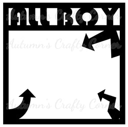 All Boy - Arrows - Scrapbook Page Overlay Die Cut - Choose a Color