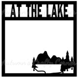At The Lake - Scrapbook Page Overlay - Choose a Color