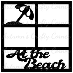 At the Beach - 4 Frames - Scrapbook Page Overlay Die Cut - Choose a Color