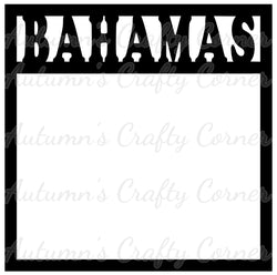 Bahamas - Scrapbook Page Overlay Die Cut - Choose a Color