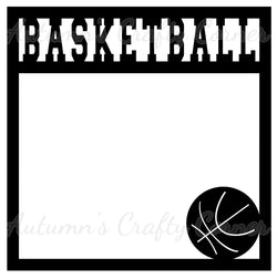 Basketball - Scrapbook Page Overlay Die Cut - Choose a Color