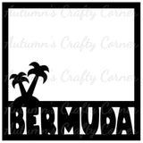 Bermuda - Scrapbook Page Overlay Die Cut - Choose a Color