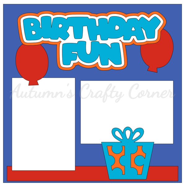 Birthday Fun - Single Scrapbook Page Kit