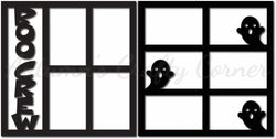 Boo Crew - Scrapbook Page Overlay Set - Choose a Color