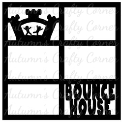 Bounce House - 6 Frames - Scrapbook Page Overlay Die Cut - Choose a Color