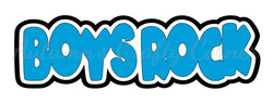 Boys Rock - Deluxe Scrapbook Page Title - Choose a Color